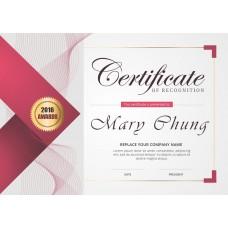 獎狀 - 專業資格認可證書