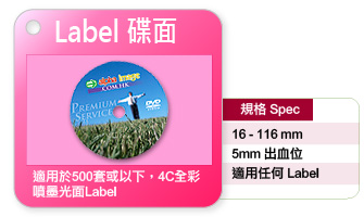 碟面Label